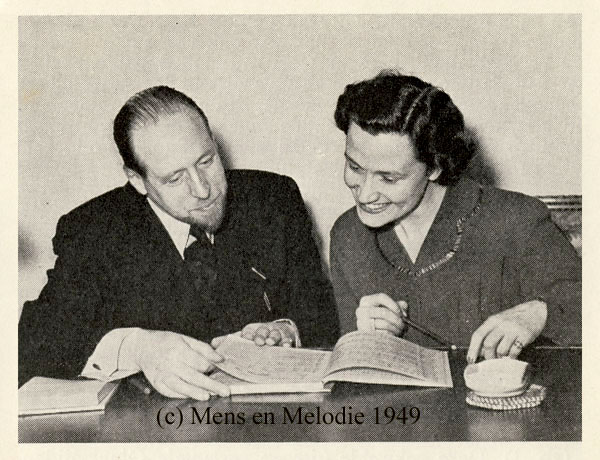 Kathleen Ferrier and director Abraham van der Vies